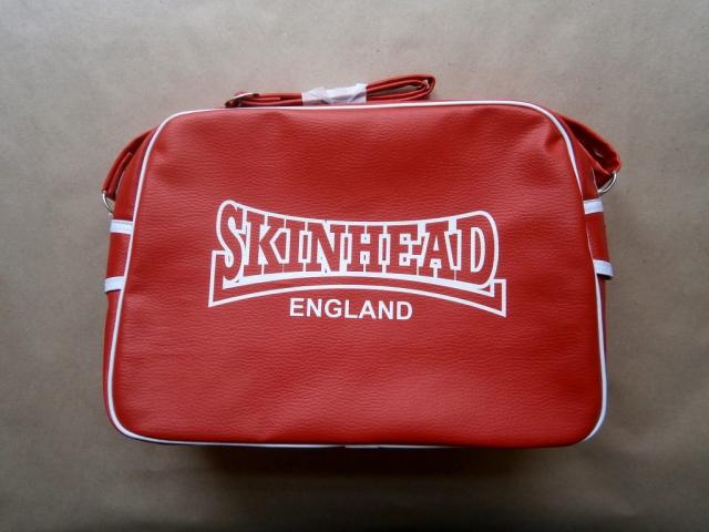 Warrior Clothing . červená taška přes rameno Skinhead