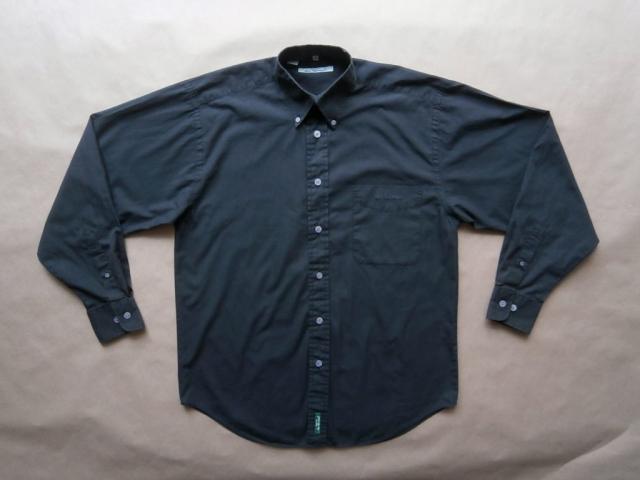 M . Ben Sherman . černá košile s dlouhým rukávem