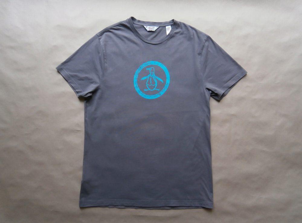 L . Original Penguin . šedé tričko