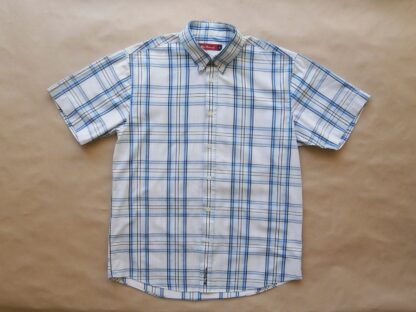S . Ben Sherman . modro-bílá kostkovaná košile