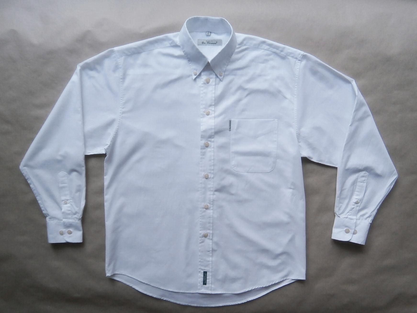 L . Ben Sherman . bílá košile s dlouhým rukávem