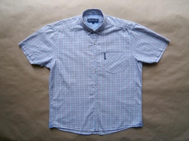 M/L . Lambretta . modro-růžová kostkovaná košile