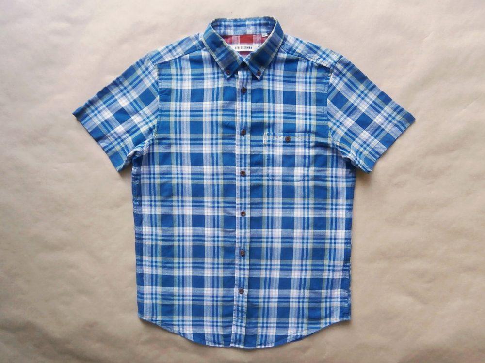 S/M . Ben Sherman . modrá kostkovaná košile