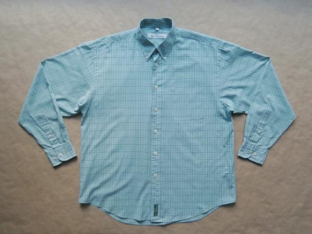 L/XL . Ben Sherman . zeleno-modrá kostkovaná košile
