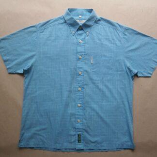 L . Ben Sherman . světle modrá kostkovaná košile