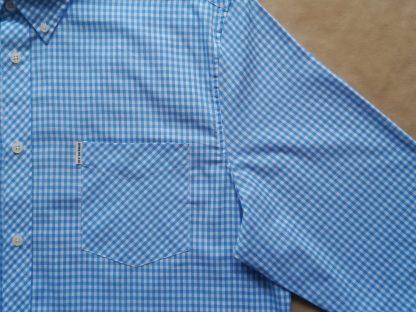 XXL . Ben Sherman . modro-bílá gingham košile