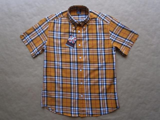 S . Warrior Clothing . žlutá kostkovaná košile