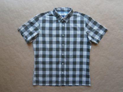 XL . Ben Sherman . zeleno/khaki-krémová kostkovaná košile