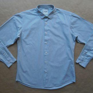 L . Ben Sherman . košile s jemným zeleným a fialovým proužkem