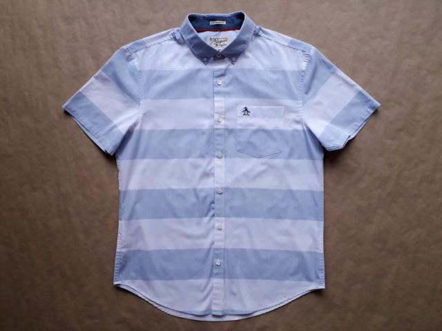 M . Original Penguin . modro-bílá pruhovaná košile