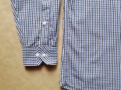 L . Ben Sherman . modro-bílá gingham košile