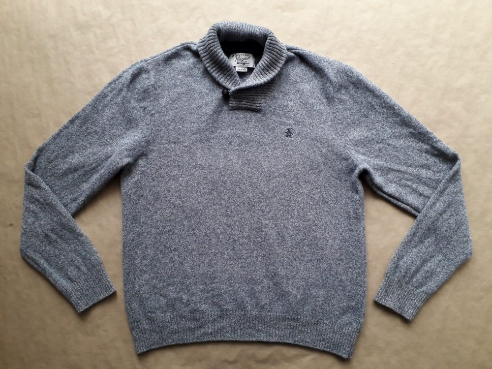 XL . Original Penguin . teplý šedý svetr
