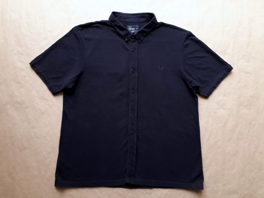 XL/XXL . Fred Perry . tmavě modrá slim fit košile