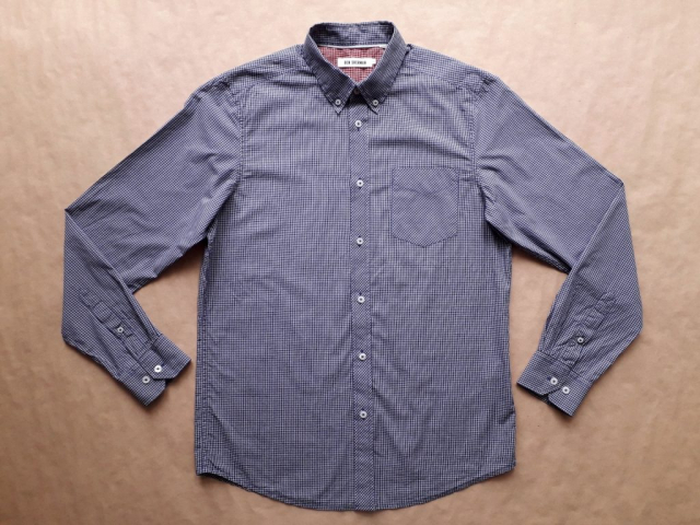 L . Ben Sherman . modro-vínovo-bílá kostkovaná košile