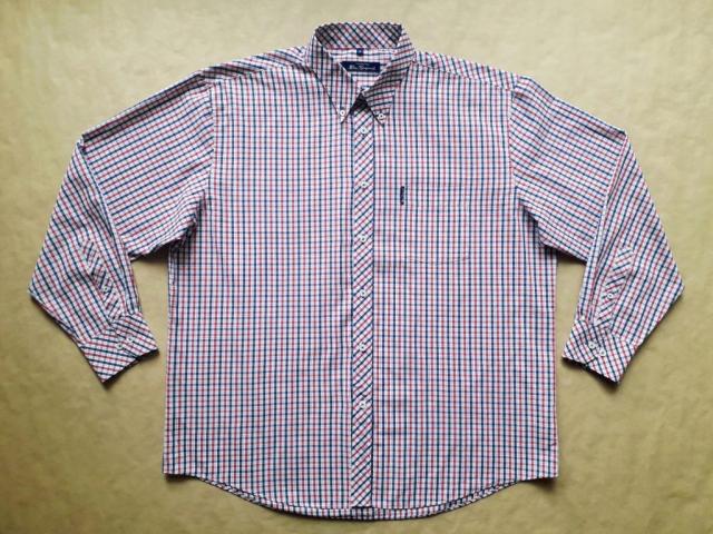 XL/XXL . Ben Sherman . modro-červeno-bílá kostkovaná košile