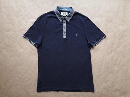 M . Original Penguin . tmavě modré polo s šedým límečkem