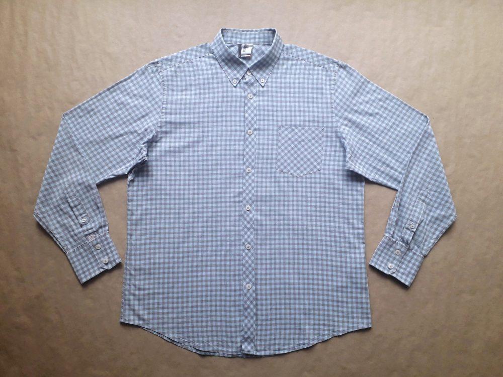 XL . Ben Sherman . modro-šedá kostkovaná košile