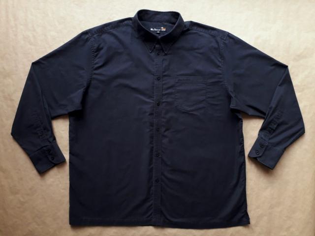 XXL/3XL . Ben Sherman . černá košile s dlouhým rukávem