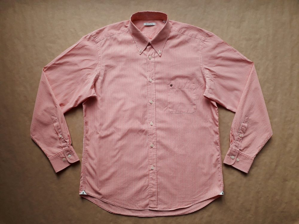 L/XL . Burlington . oranžovo-bílá gingham košile