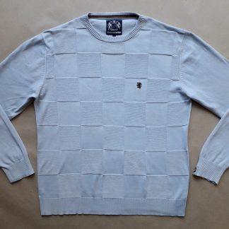 M . Lambretta . světle modrý svetr