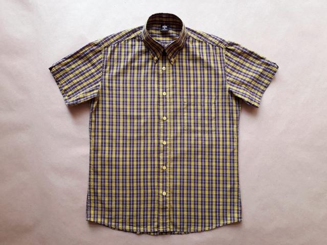 M . Warrior Clothing . černo-růžovo-žlutá kostkovaná košile
