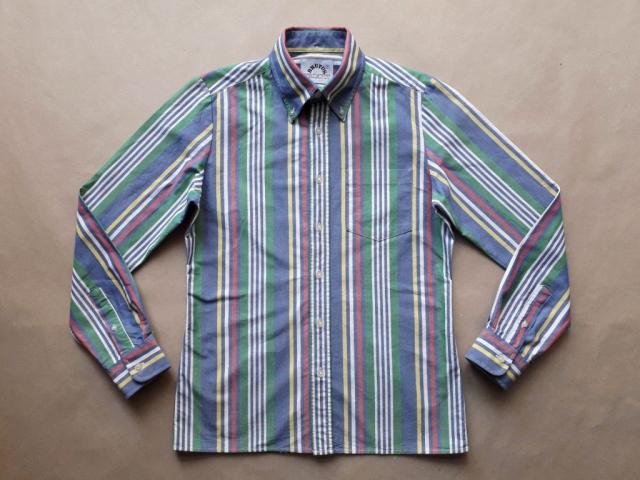 S . Brutus . barevná pruhovaná trimfit košile