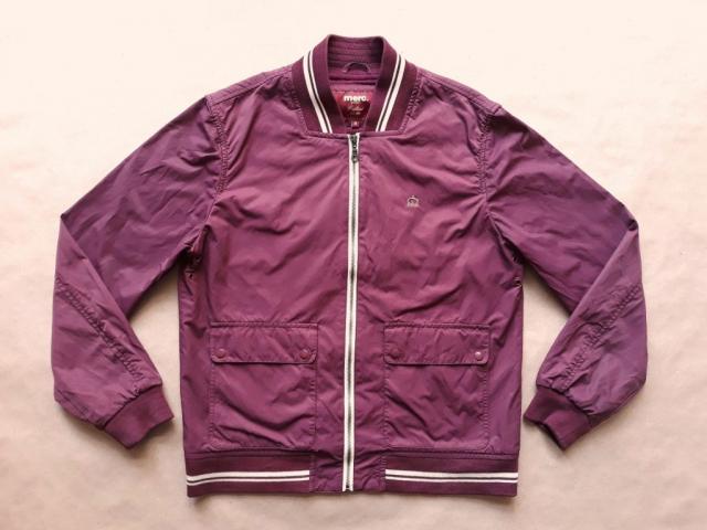 M . Merc . vínovofialová bunda monkey jacket s krémovým proužkem