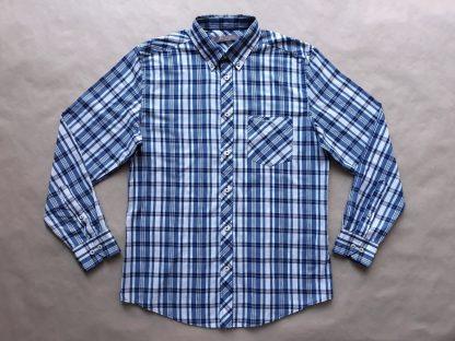 M . Ben Sherman . modro-bílá kostkovaná košile