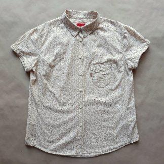 M . Levi's . krémová košile s červeno-béžovým vzorem