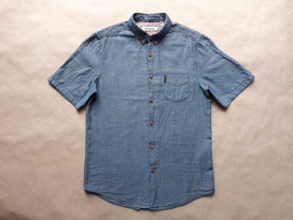 S . Ben Sherman . lehká modrá košile s nepatrnými pruhy