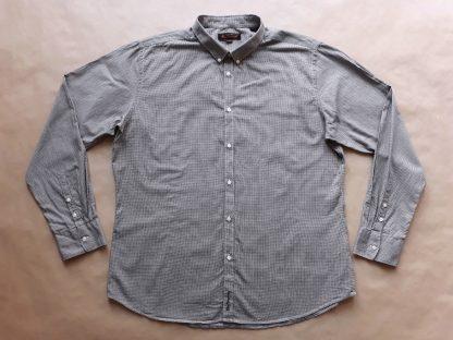 XXL . Ben Sherman . černo-bílá košile se vzorem kohoutí stopy