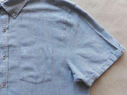 L . Original Penguin . modro-šedo-bílá košile se vzorem kohoutí stopy
