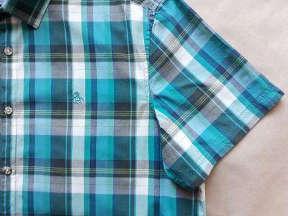 XL/XXL . Original Penguin . tyrkysovo-zeleno-bílá kostkovaná košile
