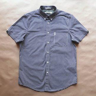 M . Ben Sherman . modro-bílá gingham košile