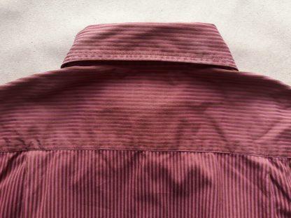 XS . Ben Sherman . vínová košile s hnědým proužkem