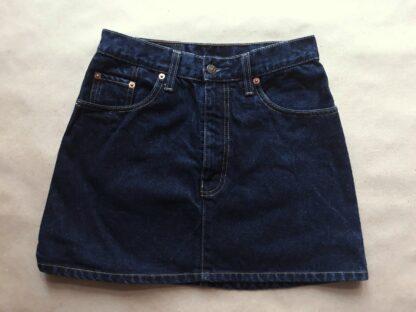 S /M. Levi's . krátká tmavě modrá džínová sukně