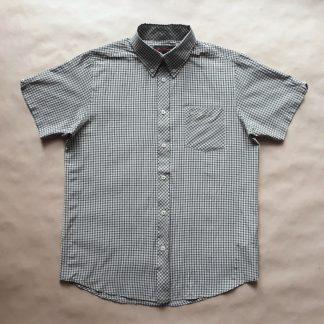 L . Ben Sherman . modro-béžovo-bílá kostkovaná košile