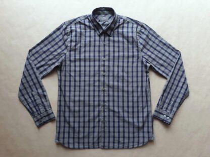 M . Peter Werth . modro-šedá kostkovaná košile