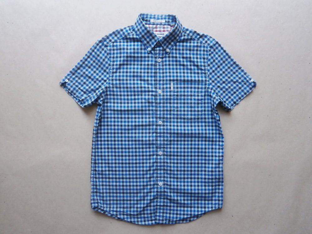XS . Ben Sherman . modrá kostkovaná košile