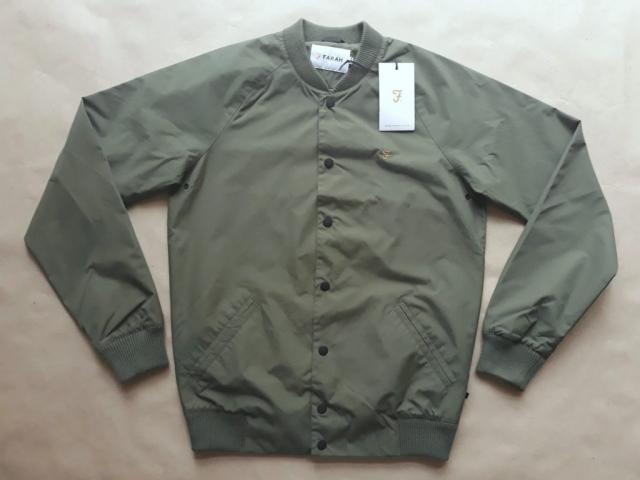 XS . Farah . lehká khaki monkey jacket/bomber