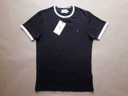 XS . Farah . tmavě modré tričko s bílými lemy