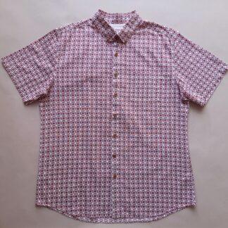 XL . Farah . krémová košile s vínovými ornamenty