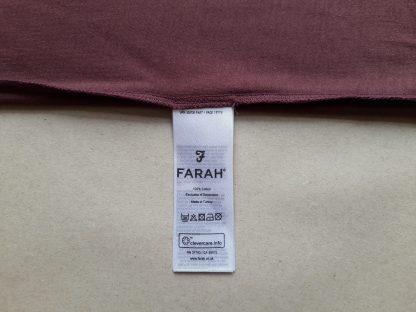 XS . Farah . vínové tričko s černým lemem