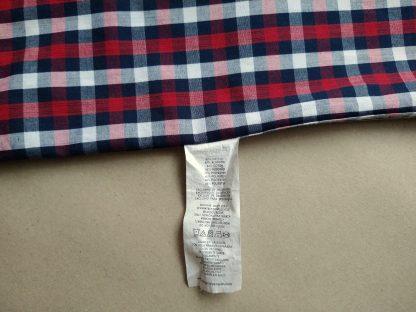 L . Original Penguin . vínovo-modro-bílá kostkovaná košile
