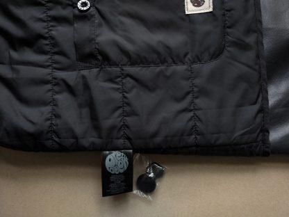 XXL . Pretty Green . šedočerný kabát Mac coat