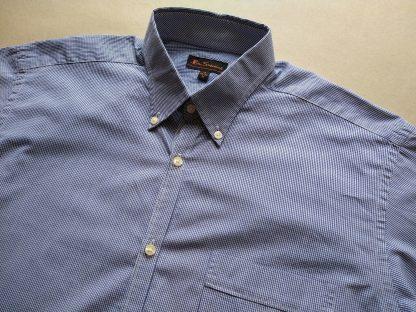M . Ben Sherman . modro-bílá kostkovaná gingham košile