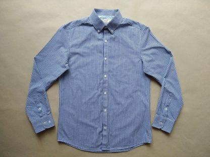 S . Original Penguin . modro-bílá kostkovaná gingham košile