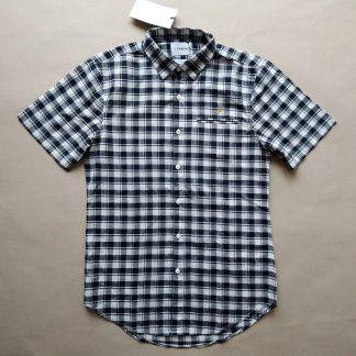 S . Farah . lehká černo-bílá kostkovaná košile