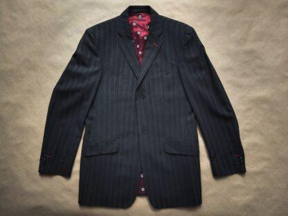 M . Ben Sherman . delší černé sako s šedým proužkem