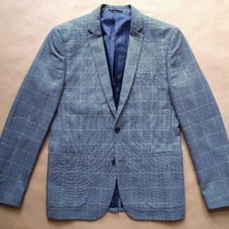 M/L . Farah . světle modré kostkované sako
